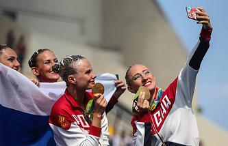 Российские синхронистки - олимпийские чемпионки Игр-2016