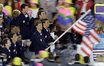 Сборная США на церемонии открытия Олимпийских игр-2016