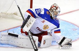 Вратарь молодежной сборной России по хоккею Илья Самсонов