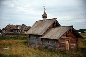 Церковь в поселке Соловецком на Большом Соловецком острове