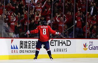 Александр Овечкин, набравший 1000-е очко за результативность в регулярных чемпионатах НХЛ