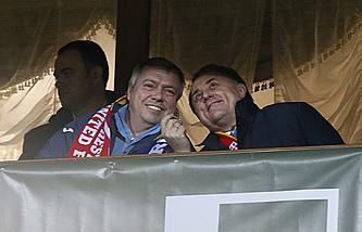 Губернатор Ростовской области Василий Голубев и вице-премьер РФ Виталий Мутко