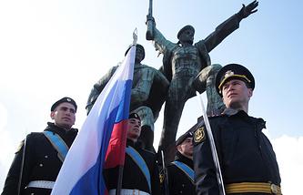 Празднование третьей годовщины воссоединения Крыма с Россией в Севастополе