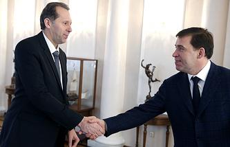 Гендиректор УВЗ Александр Потапов и губернатор Свердловской области Евгений Куйвашев