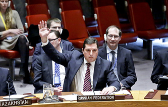 Заместитель постоянного представителя РФ при ООН Владимир Сафронков