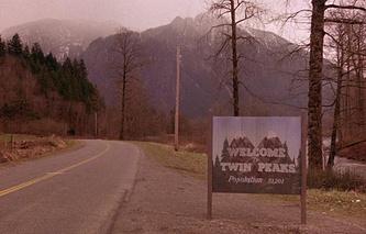 """Знак """"Добро пожаловать в Твин Пикс"""""""