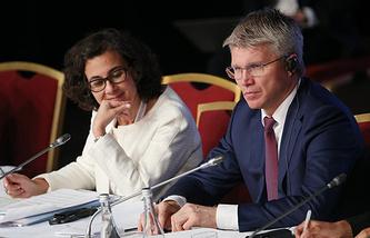 Нада Аль-Нашиф и министр спорта РФ Павел Колобков