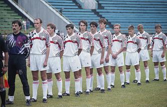 Состав сборной России по футболу на товарищеский матч с мексиканцами, 1992 год