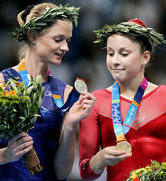 Светлана Хоркина и Карли Паттерсон
