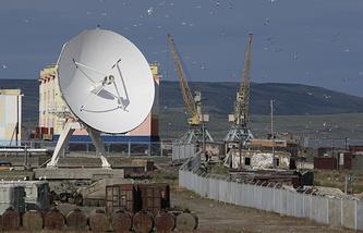 Вид на морской порт Анадыря