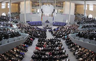 Вид на Бундестаг