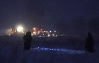 """Место крушения пассажирского самолета Ан-148 """"Саратовских авиалиний"""""""