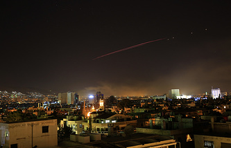Во время ракетного удара по Сирии