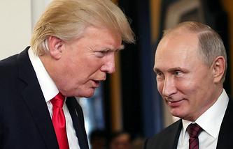 Президент США Дональд Трамп и президент РФ Владимир Путин