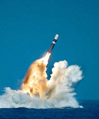 Баллистическая ракета Trident II, которая может нести до цели термоядерные боеголовки W88