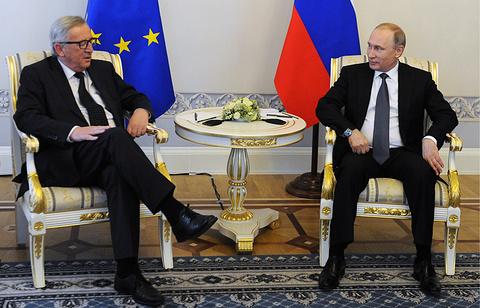 Jean-Claude Juncker e Vladimir Putin