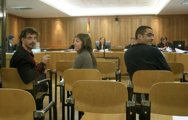 (L-R) Daniel Pastor Alonso, Beatriz Etxebarria and Inigo Zapirain Romano