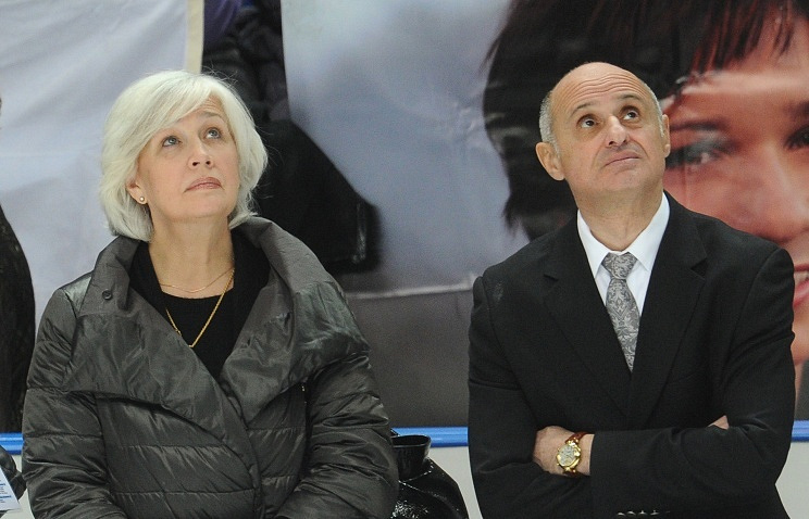 Legends of Soviet figure-skating Natalya Linichuk and Gennady Karponosov