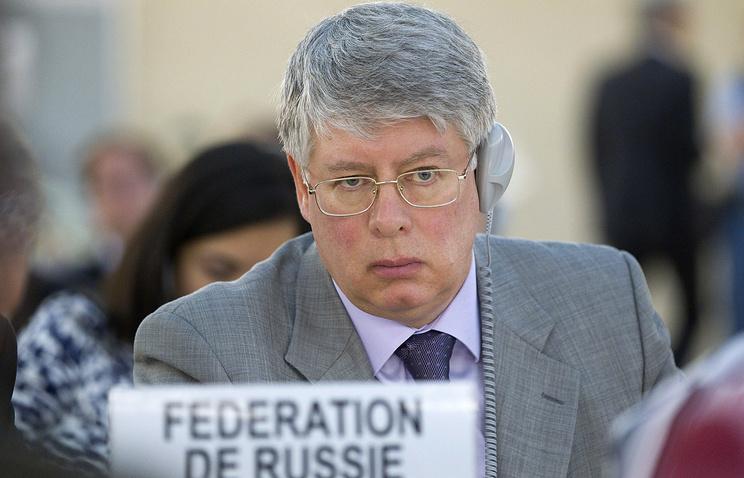 Permanent Representative of Russia to the United Nations and other International Organizations in Geneva Alexei Borodavkin