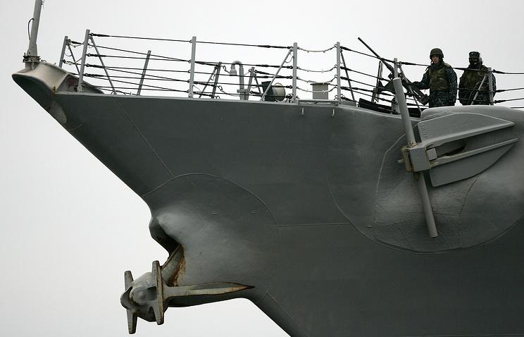 U.S. navy missile destroyer USS Ramage DDG-61