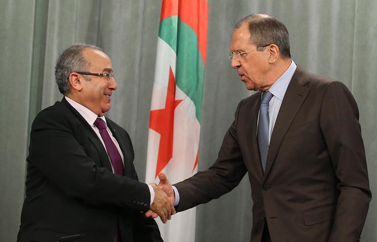 Ramtane Lamamra and Sergei Lavrov