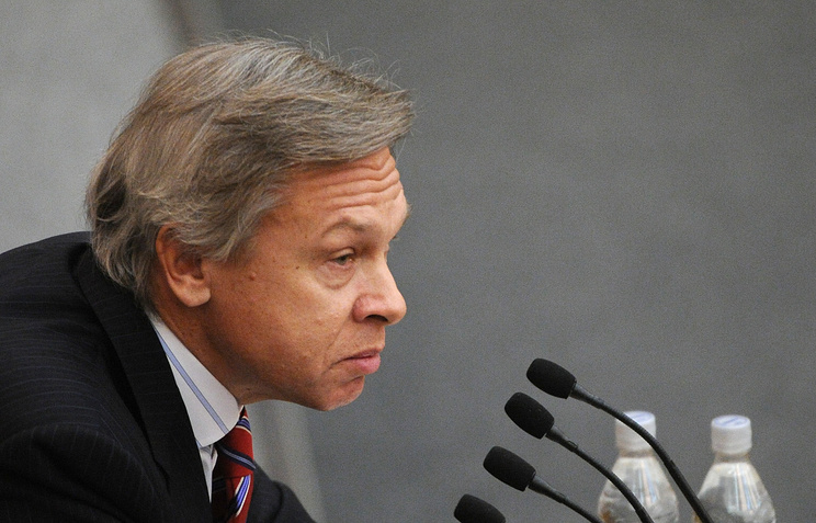 Head of the international affairs committee at the State Duma Alexei Pushkov