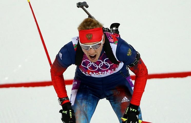 Russian biathlete Olga Zaitseva