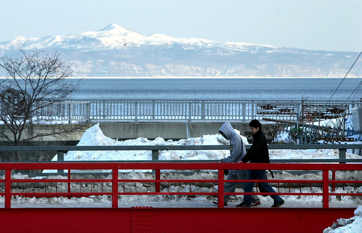 View of Russia's Kunashir island
