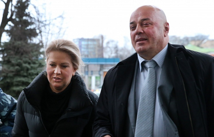 Former head of Defense Ministry's Property Department Yevgenia Vasilyeva and her lawyer Khasan Ali Borokov