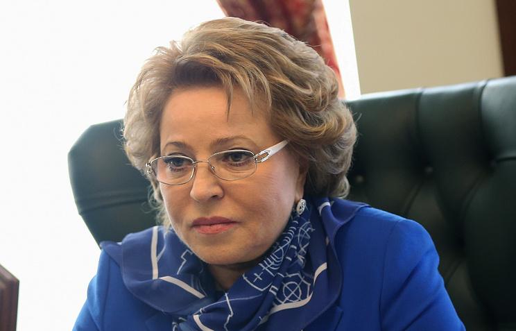 Russia's parliamentary upper house Speaker Valentina Matvienko