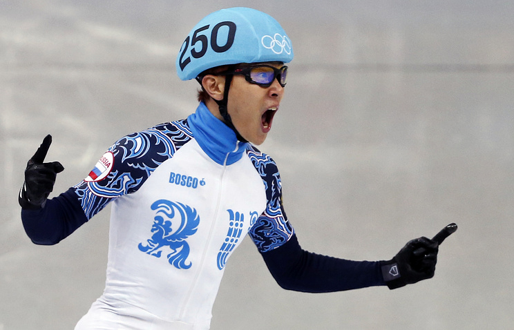Russia's speed skater Viktor Ahn