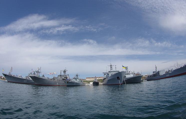 """Ships of the international """"Blackseafor"""" naval group in Ukraine's Sevastopol (archive)"""
