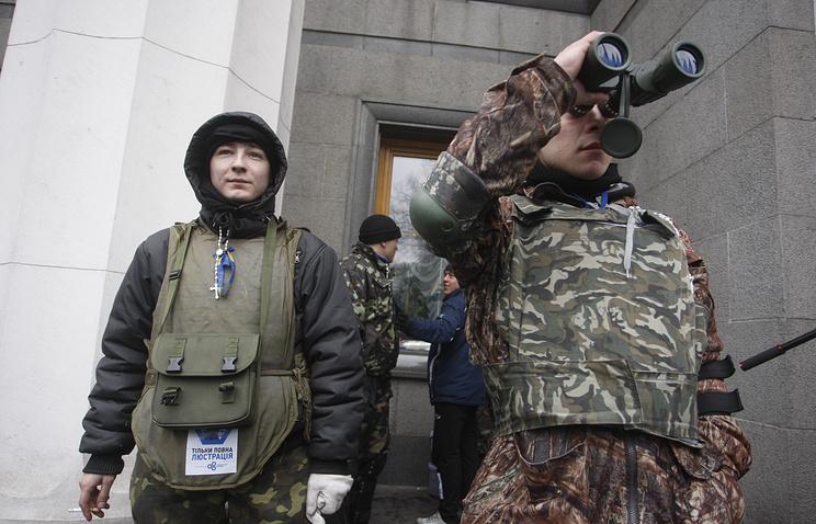 Ukrainian protesters in Kiev