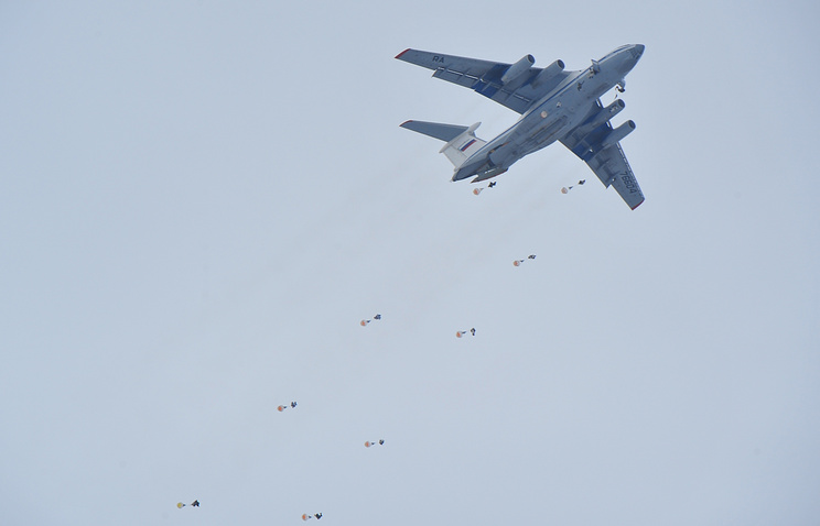 Military exercise in Ryazan airborne division in March 2014