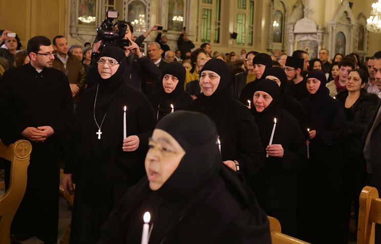 Released Syrian Greek Orthodox nuns