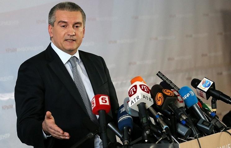 Prime minister of the Crimea Sergey Aksenov
