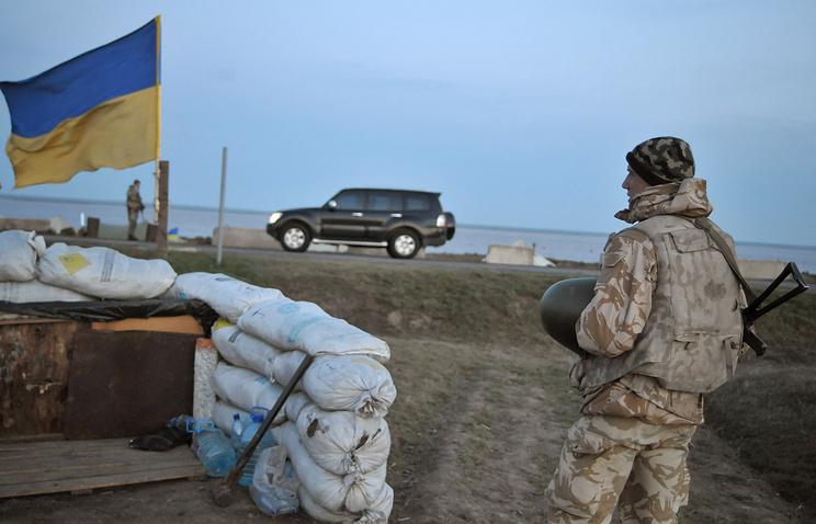 Ukrainian soldier near the village of Chongar (archive)