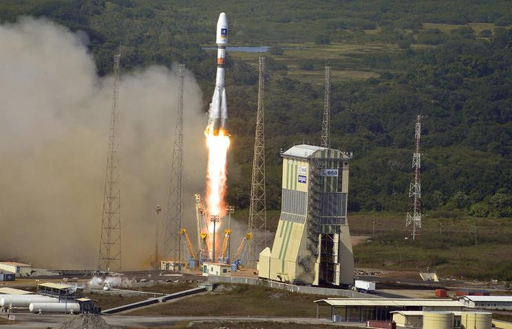 A Soyuz rocket launch from Kourou Spaceport (archive)