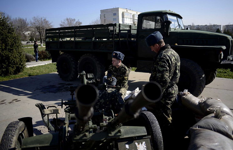 Ukrainian soldiers in Crimea (archive)