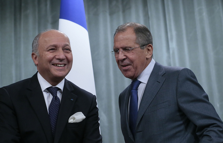 Foreign Ministers of France and Russia, Laurent Fabius and Sergei Lavrov