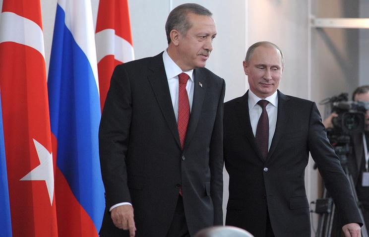 Recep Tayyip Erdogan and Vladimir Putin (archive)