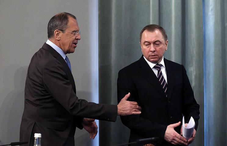 Sergei Lavrov and Vladimir Makei