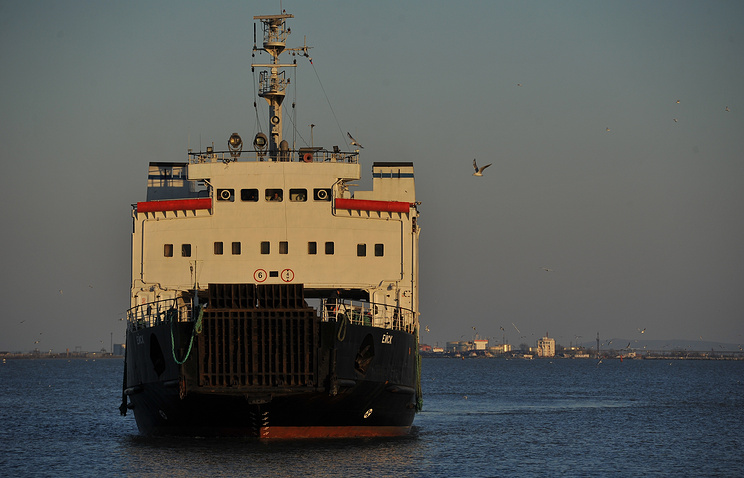 A ferry crossing the Kerch strait