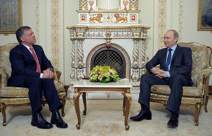 King Abdullah II of Jordan with Russian President Vladimir Putin