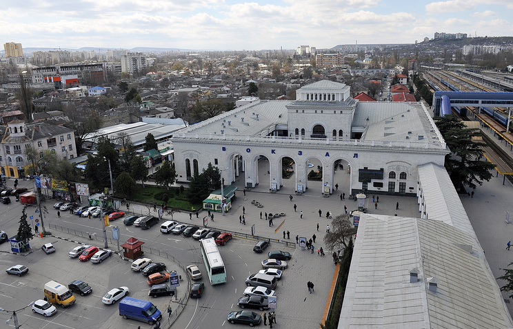 A view of Crimea's capital, Simferopol