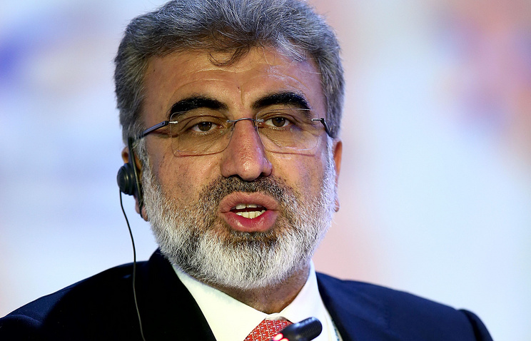 Turkey's Minister of Energy and Natural Resources Taner Yildiz