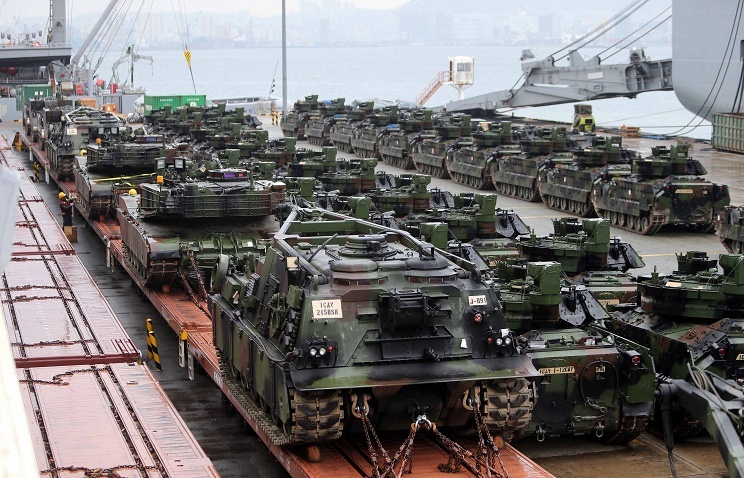 US tanks in South Korea