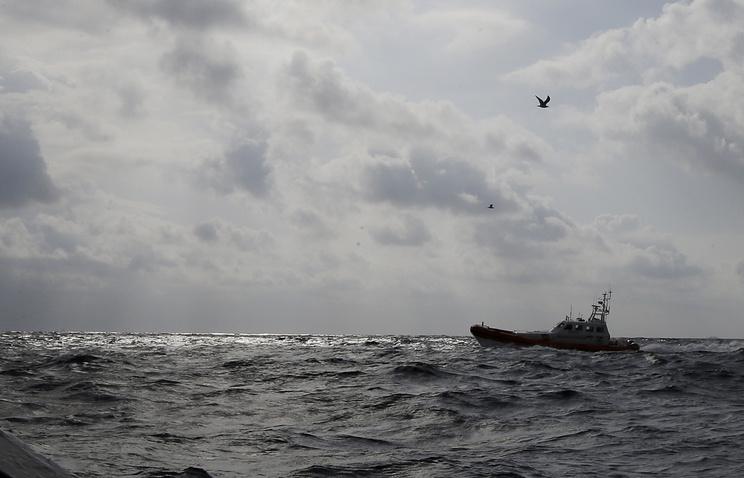 Italian Coast Guard boat off the coast of Lampedusa (archive)