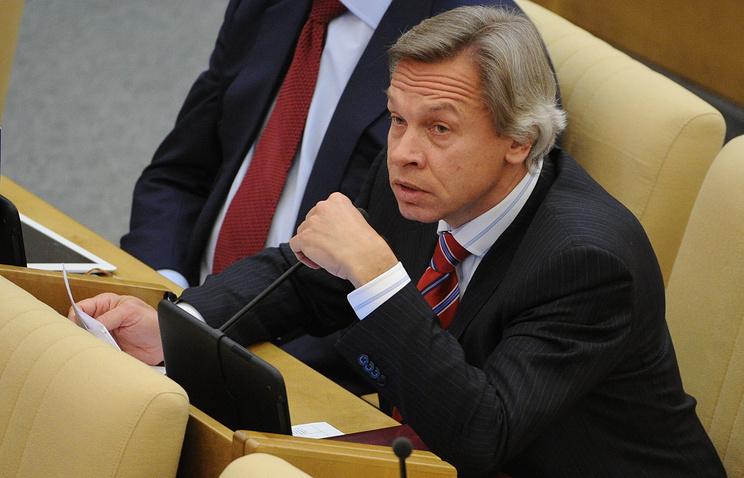 Head of the State Duma's Foreign Affairs Committee Alexei Pushkov