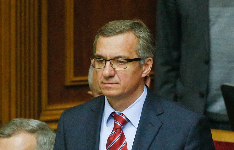 Ukraine's parliament-appointed Finance Minister Oleksandr Shlapak
